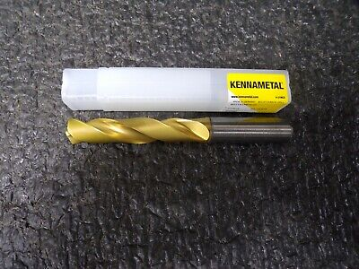 New KENNAMETAL 5//8 Dia Solid Carbide Drill B222A15875HP KCPK15 13VH Coated