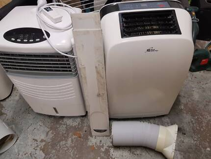 portable air conditioner and evaporative fan package