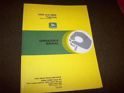 John Deere 6405 & 6605 Tractor (Serial No. 265203-) Operator's Manual