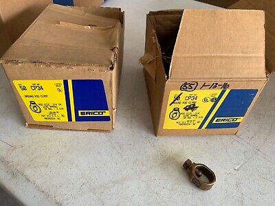 4x Erico Cp34 Ground Rod Clamps 34 Wire Range 10 Sol - 2 Str Nos