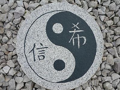 "trittstein granit "" ying yang"" gartendeko, koiteich , feng shui, Garten Ideen"