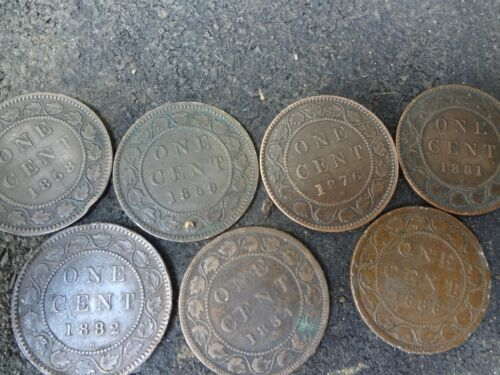Canadian Large Cent Collection 1858-1920 COMPLETE. Coins are Fine-XFine & better
