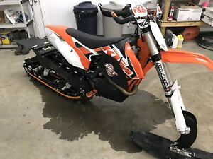 2015 KTM 450 sx and sx timbersled