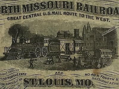 19th Century Advertising Note for North Missouri Railroad, St. Louis, Mo PM-79