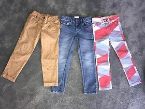 3 pairs of girls jeans, pants - Size: 5 Kellyville Ridge Blacktown Area Preview