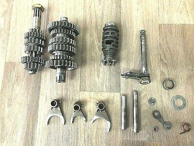 94-97 Kawasaki KX125 Complete Transmission Assembly Gears Shafts Forks Trans
