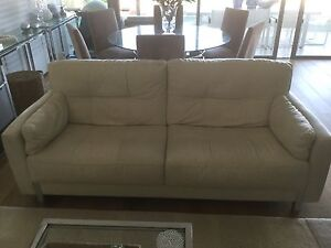 Leather Lounge - great  condition Coogee Eastern Suburbs Preview