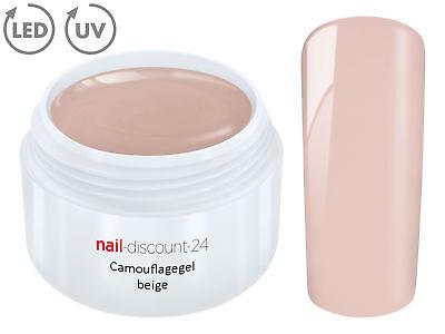 UV LED Gel MAKE UP CAMOUFLAGE BEIGE Color French Farbgel Cover Modellage Aufbau