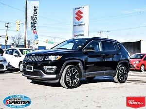2018 Jeep Compass Limited 4x4 ~Nav ~Backup Cam ~Panoramic Moonro
