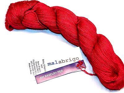 Ravelry Red 420Yd Skein Malabrigo Baby Silkpaca Alpaca   Silk Luxury Lace Yarn