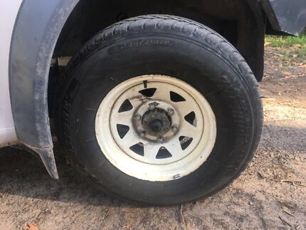15x7 6stud with brand new tyres
