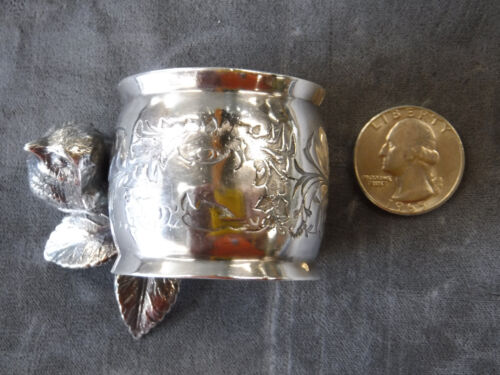 Antique Victorian Silverplate Napkin Ring by JM