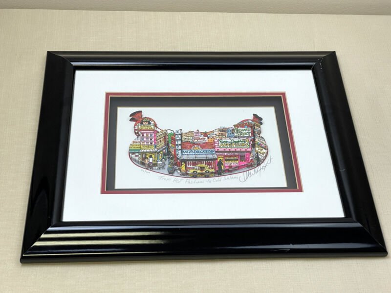 """Signed Numbered 3D Art Print Charles Fazzino """"From Hot Pastrami to Cold Salami"""""""