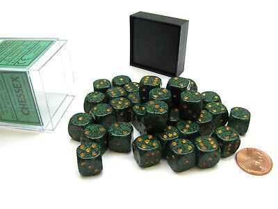Speckled 12mm D6 Chessex Dice Block (36 Die) - Golden Recon 12mm D6 Dice Block