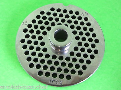 22 X 316 Meat Grinder Plate W Hub Stainless Fits Hobart Tor-rey Lem More