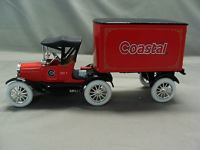 Coastal 1918 Ford Runabout Tractor Trailer Toy Bank  1999 Ertl  Stock  19658