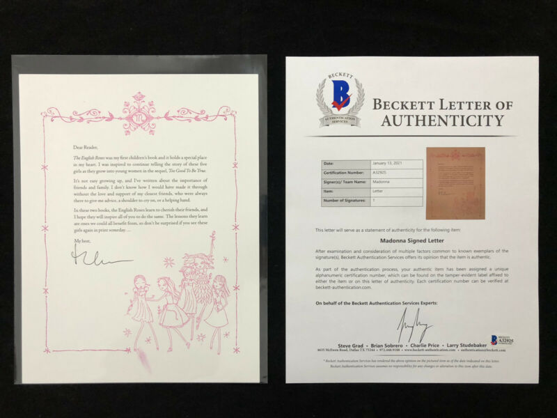 2006 Madonna Autographed Signed Letter BAS BECKETT LOA