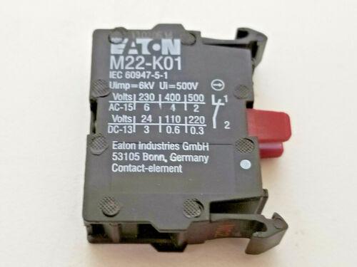 New Eaton 1NC Switch Contact Block, M22-K01