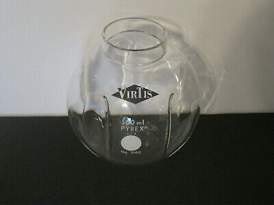 Virtis 500ml Round Freeze Dry Flask With Inside Baffles No 5160