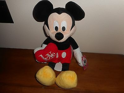"""NEW DISNEY LOVE MICKEY MOUSE 18"""" PLUSH TOY"""