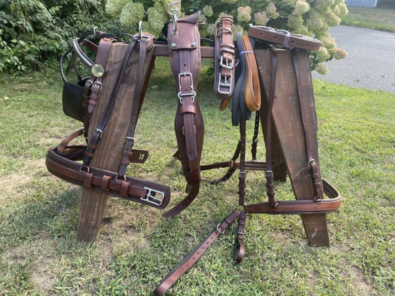 Leaders Leather Pleasure Harness- Horse/Full Size! Brown!