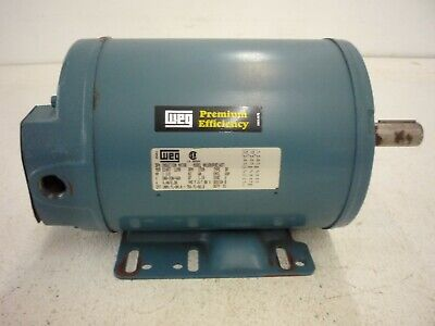 Weg Electric 3ph Induction Motor 1720 Rpm 78 Shaft 56c Frame 1.5hp Lr32384