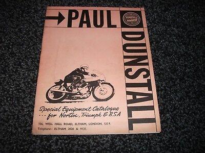 Paul Dunstall  special equipment catalogue for norton triumph & bsa