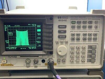 Hp Agilent 8594e Portable Spectrum Analyzer 9 Khz To 2.9 Ghz Options Calibrated