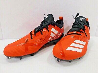 Adidas Adizero 5-star 7.0 Orange Low Top Spike Cleats Da9541 Men Sz 9.5 NEW