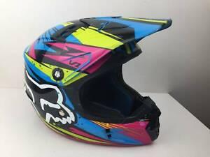 Fox V1 Undertow - MX - Dirt Bike- Helmet - Youth - 49-50cm - Motorbike