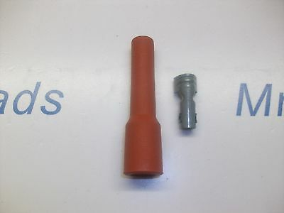 RETRO RED IGNITION SPARK PLUG RUBBER BOOT  TERMINAL X 1 NOS LOOK QUALITY