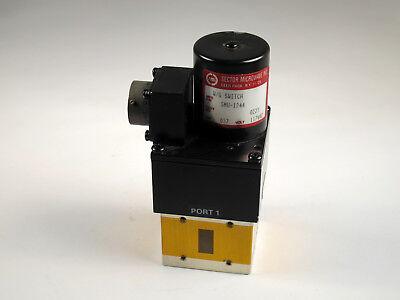 Sector Microwave Smu-1244 Waveguide Switch 117vac 4 Port Ku 12.4-18 Ghz