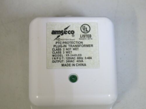 AMSECO TRANSFORMER XR-2440LED POWER SUPPLY IN120V 60Hz, OUT: 24VAC 40VA