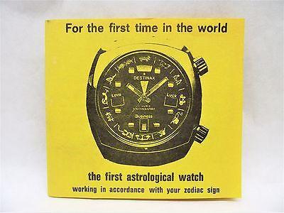 Vtg Destinax Astrological Watch Original Brochure Pamphlet Free S/H
