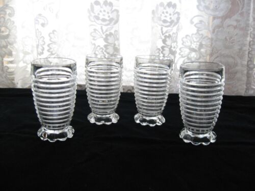 4 Excellent Anchor Hocking Manhattan 10 oz. Bubble-Footed Clear Tumblers