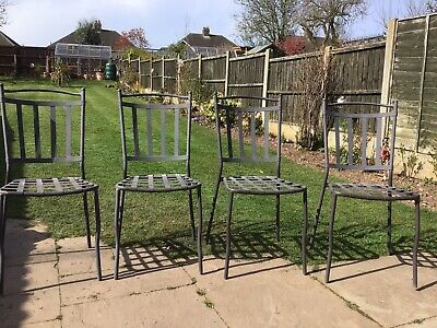 4 Metal Garden Chairs
