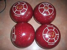 Aero Dynamic Lawn Bowls Size 4H WB21 Dimple Grips Red Speckled Surfers Paradise Gold Coast City Preview