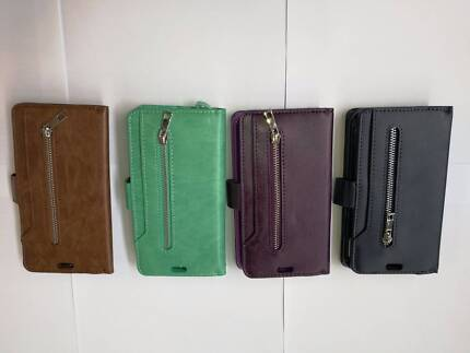 iPhone X Pleather Coloured Purse Case w/ Coin Compartment