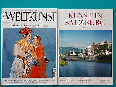 Weltkunst No.118 Aug.2016 + Kunst in Salzburg Sommer 2016 ungelesen 1A abs. Top