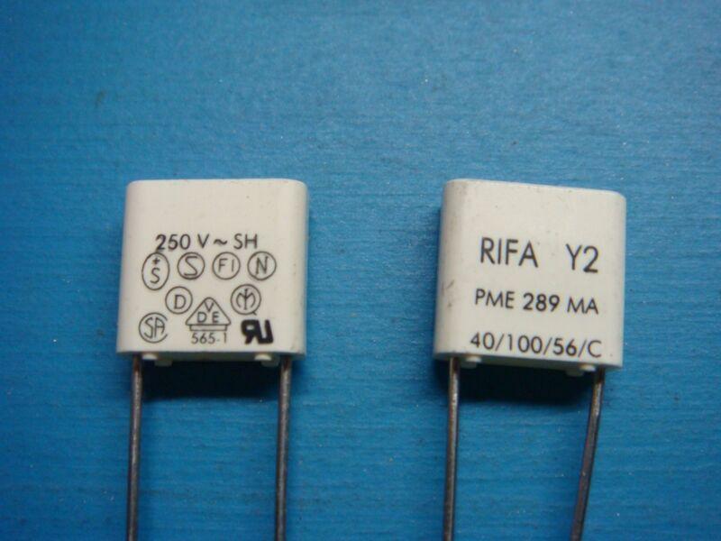(50) EVOX RIFA PME289MA4330M 3.3nF 0.0033uF 250V 20% RADIAL FILM CAPACITOR