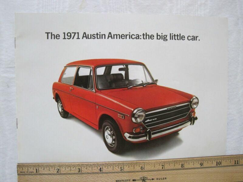 Original Vintage 1971 Austin America Brochure for North America