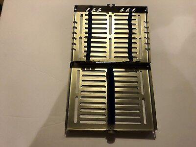 Dental Instrument Autoclavable Sterilization Cassette Tray Holds 10pcs