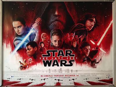 Cinema Poster: STAR WARS THE LAST JEDI 2017 (Final Quad) Mark Hamill