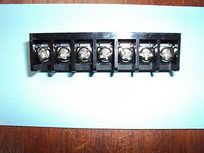 7-position Pcb Mount Single Row Barrier Terminal Block 9.525mm0.375 Pitch Nos