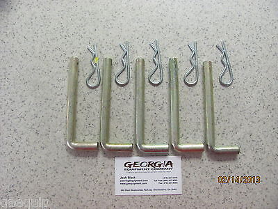 Lot Of 5 Box Blade Shank L-pins Keepers Keeps Hole Style Shanks In Place