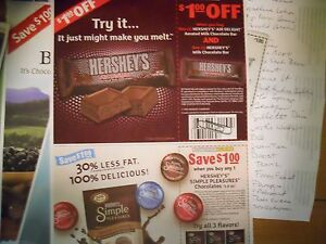 Save on Hershey's Chocolate products 12 sets of 2 coupons ex 6/1 ships free