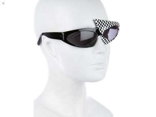 ALAIN MIKLI CHECKERBOARD TINTED SUNGLASSES.