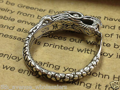 john hardy naga sterling silver 925 Small dragon ring size 6 W/ Pouch