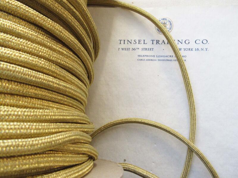Vintage Gold Metallic Tubular Cord Trim Military Shoulder Board Aiguillette 1 yd