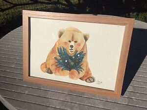 Space Bear, Watercolour Painting Belmont South Lake Macquarie Area Preview
